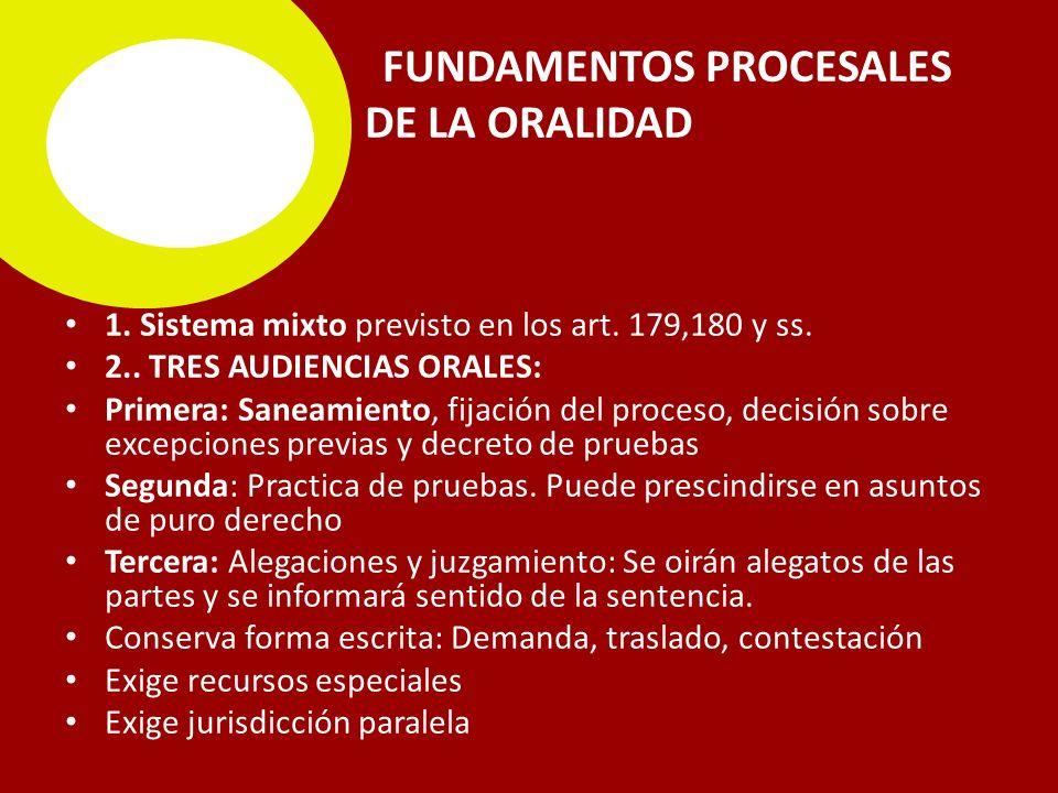 FUNDAMENTOS PROCESALES DE LA ORALIDAD