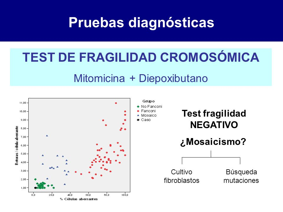 TEST DE FRAGILIDAD CROMOSÓMICA Test fragilidad NEGATIVO