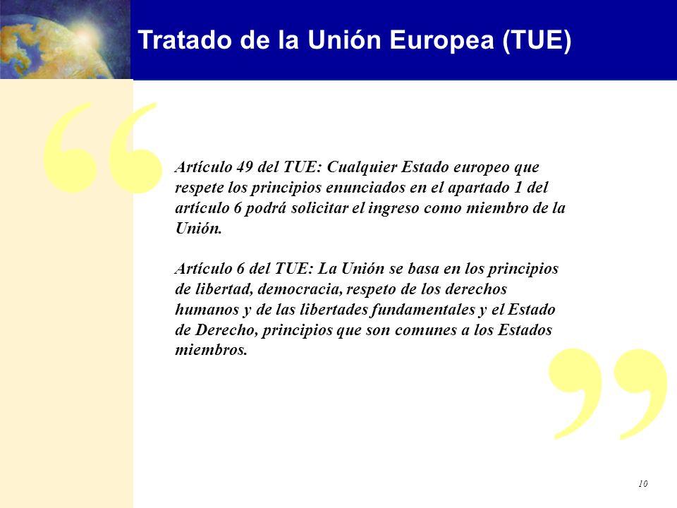 Tratado de la Unión Europea (TUE)