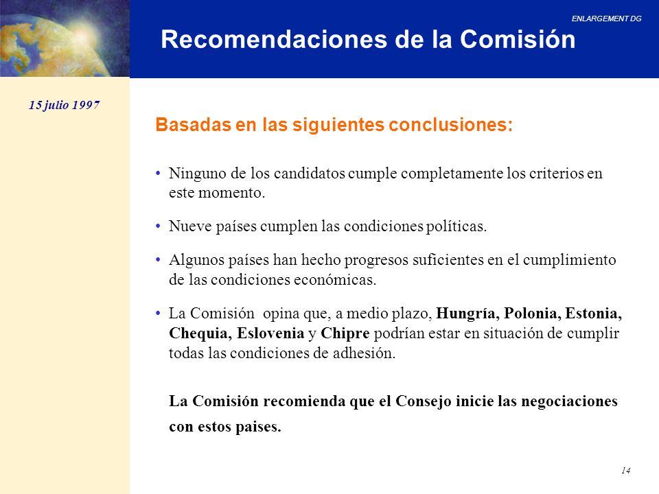 Recomendaciones de la Comisión