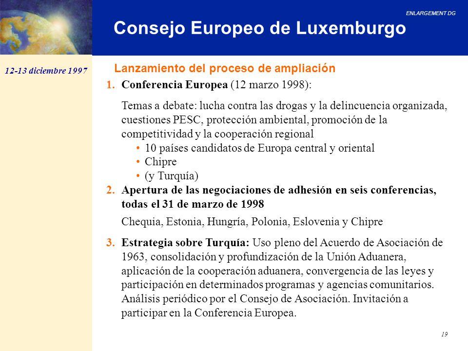 Consejo Europeo de Luxemburgo