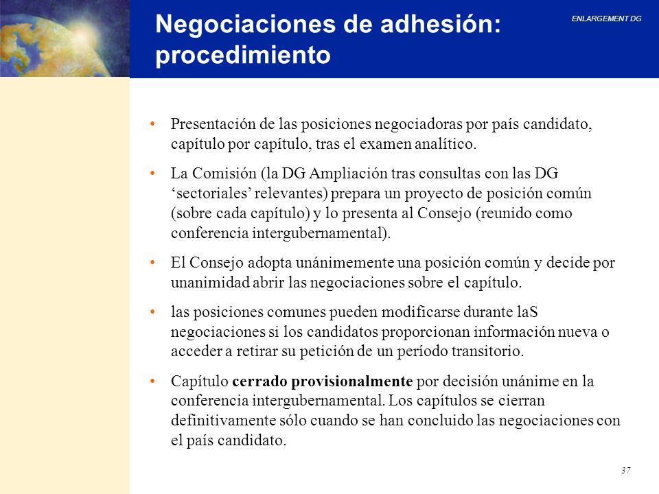 Negociaciones de adhesión: procedimiento