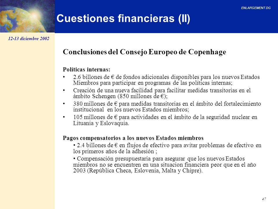 Cuestiones financieras (II)