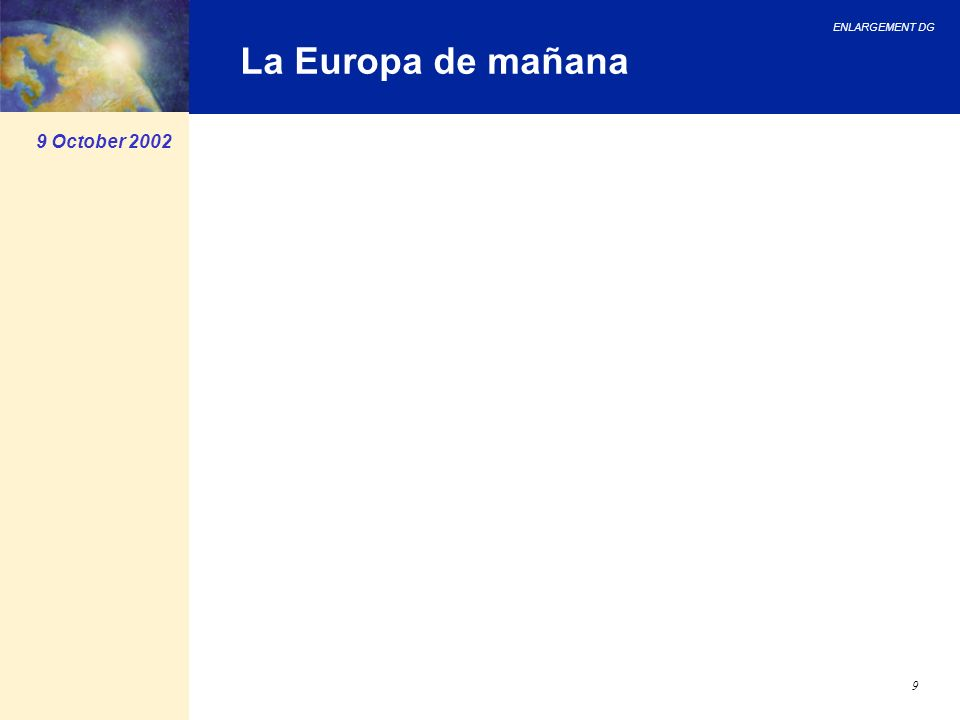 La Europa de mañana 9 October 2002