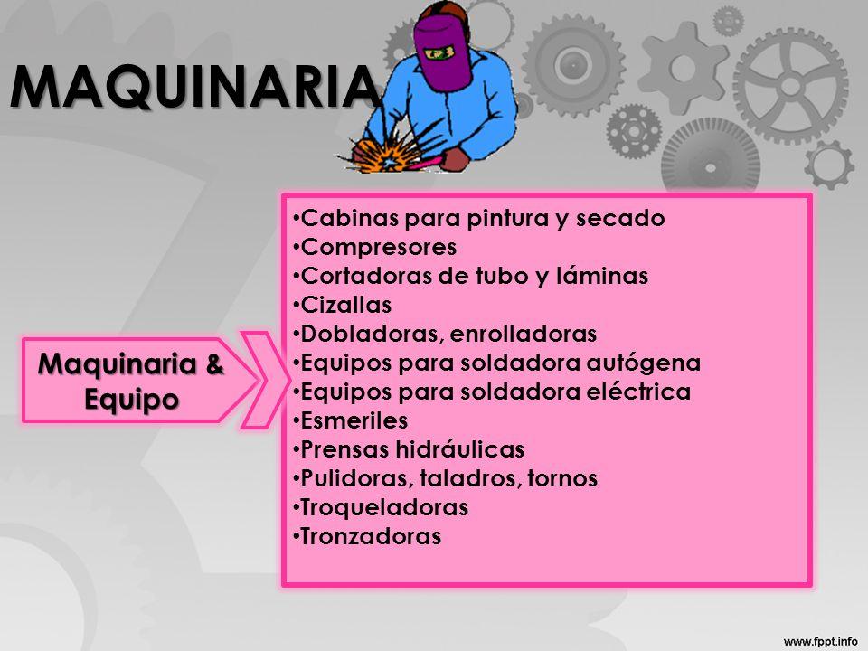 MAQUINARIA Maquinaria & Equipo Cabinas para pintura y secado