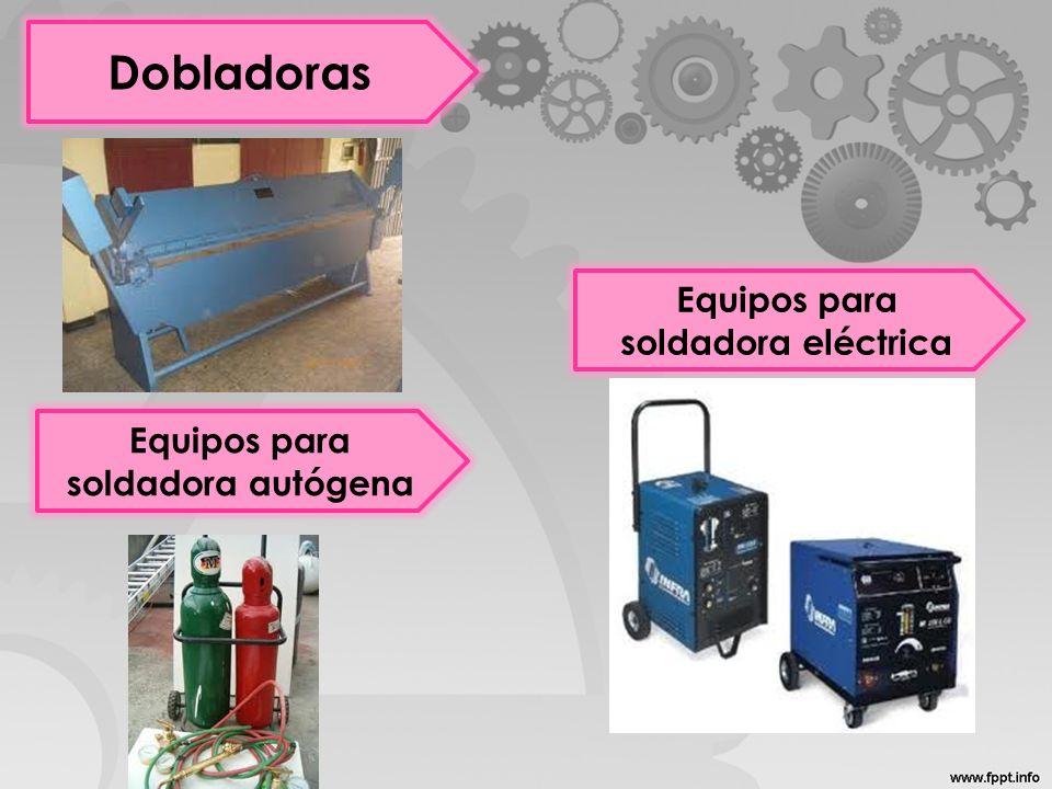 Equipos para soldadora eléctrica Equipos para soldadora autógena