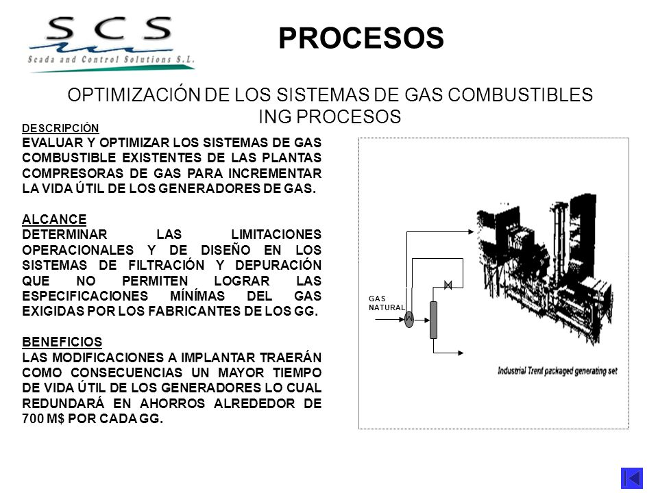 OPTIMIZACIÓN DE LOS SISTEMAS DE GAS COMBUSTIBLES