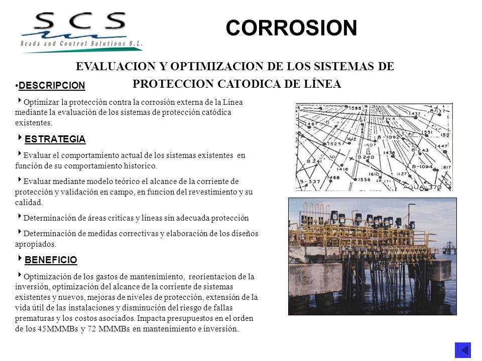 CORROSION EVALUACION Y OPTIMIZACION DE LOS SISTEMAS DE