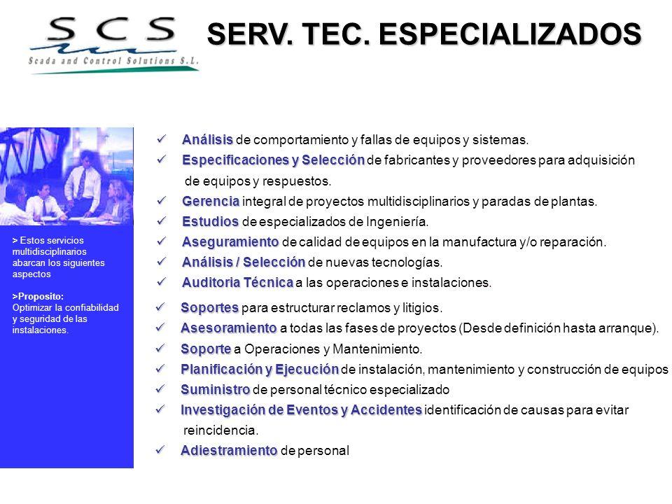 SERV. TEC. ESPECIALIZADOS