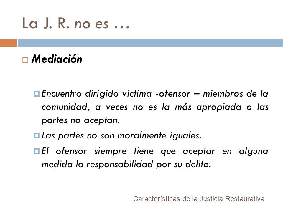 La J. R. no es … Mediación.