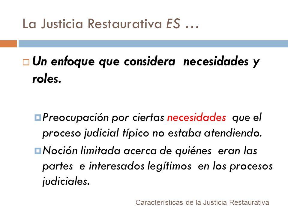 La Justicia Restaurativa ES …