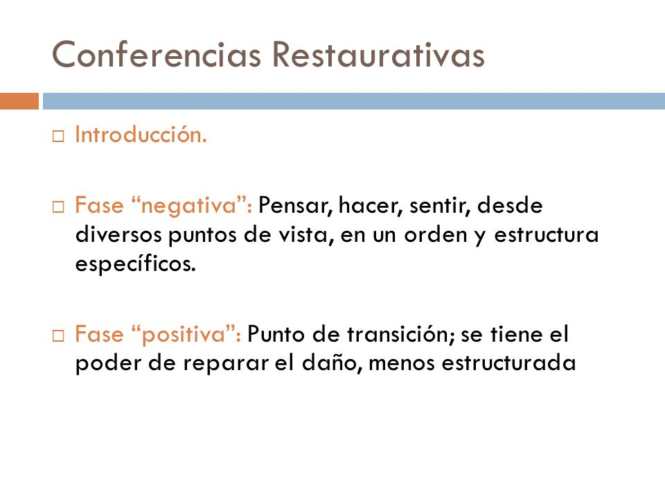 Conferencias Restaurativas