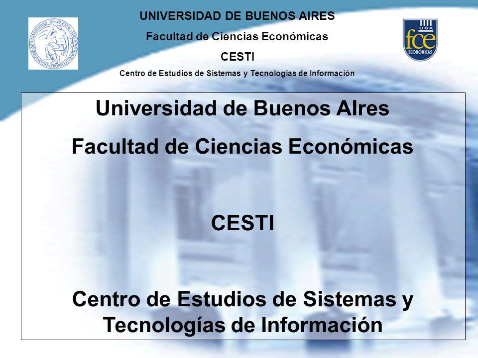 Universidad de Buenos AIres Facultad de Ciencias Económicas
