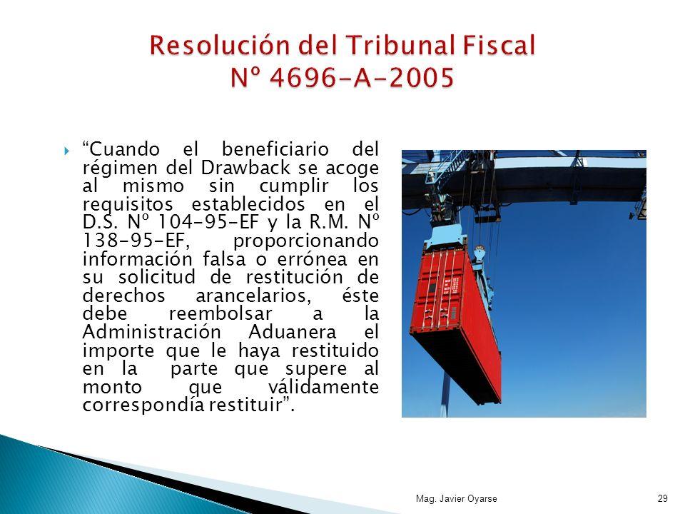 Resolución del Tribunal Fiscal Nº 4696-A-2005