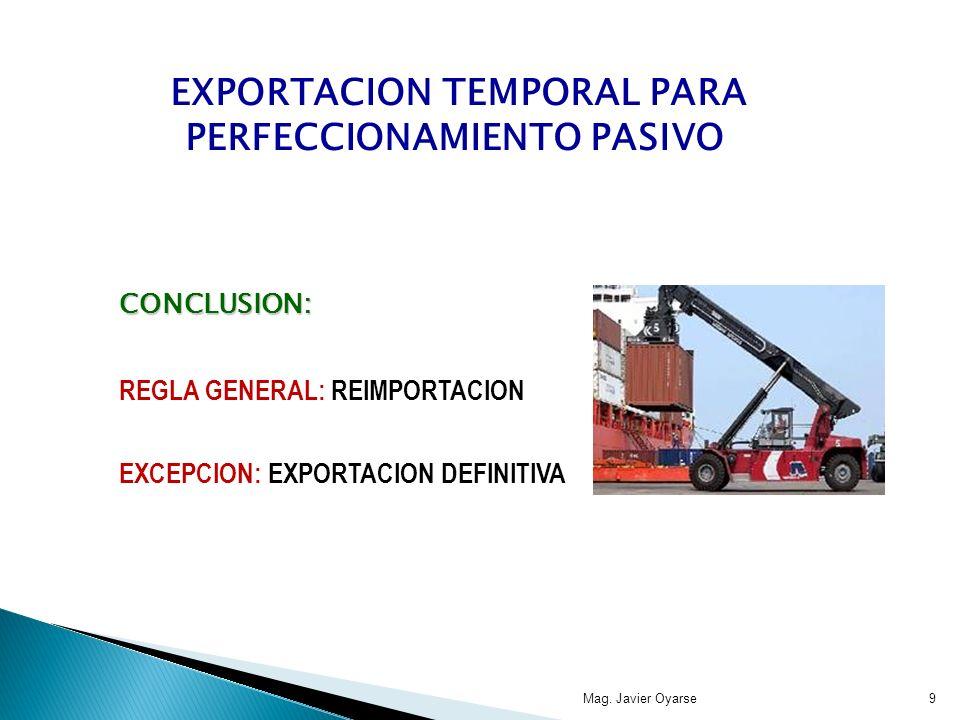 Regímenes de Promoción a las Exportaciones