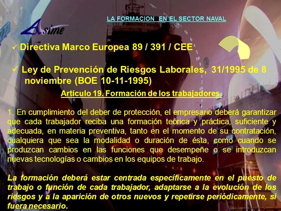 Ley de Prevención de Riesgos Laborales, 31/1995 de 8