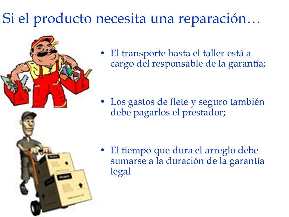Si el producto necesita una reparación…