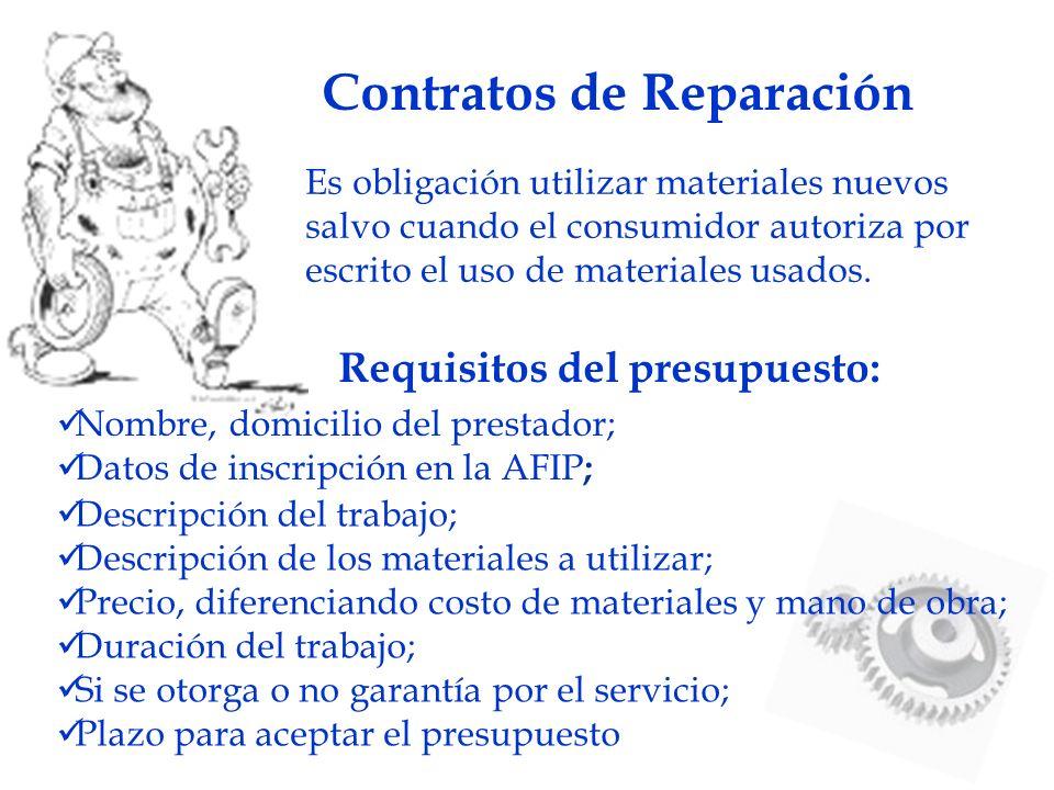 Contratos de Reparación