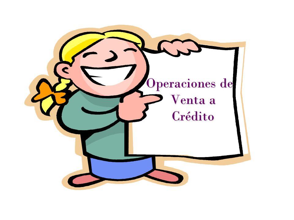 Operaciones de Venta a Crédito