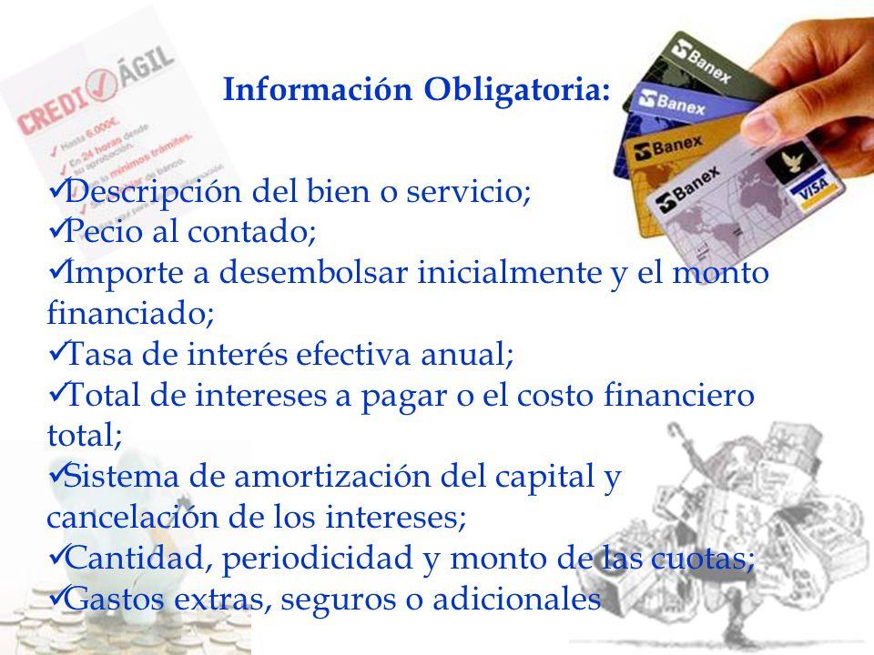 Información Obligatoria: