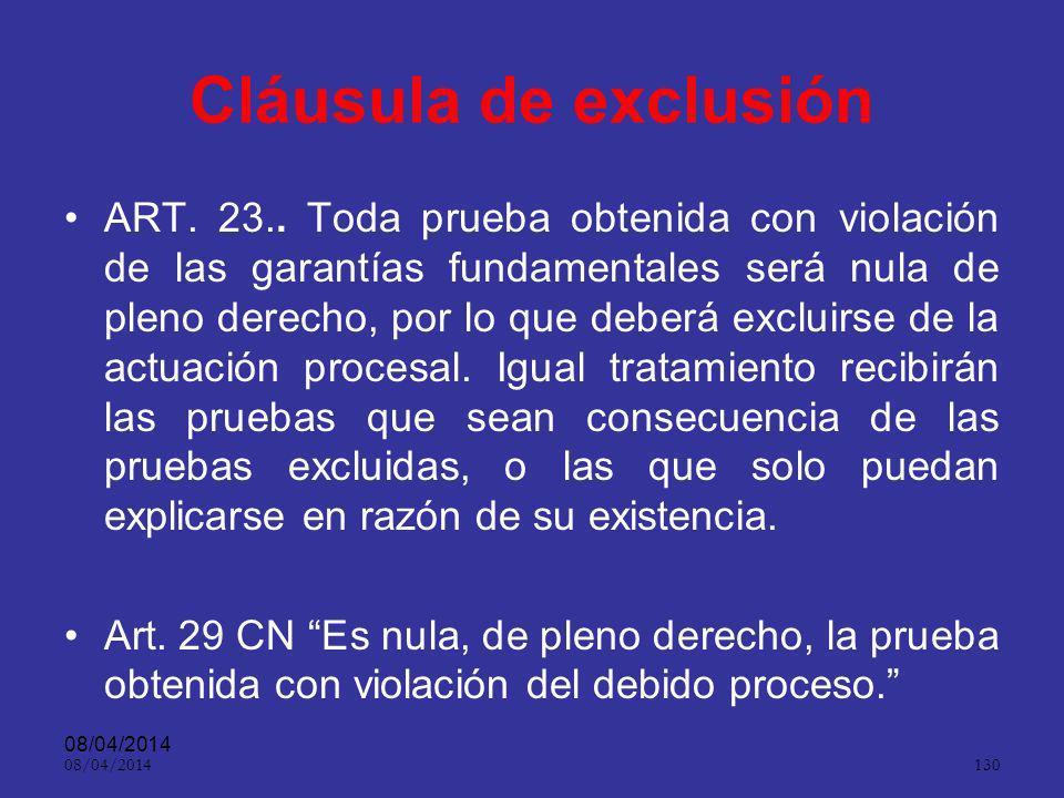 Cláusula de exclusión