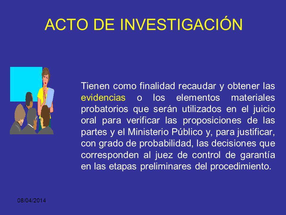 ACTO DE INVESTIGACIÓN