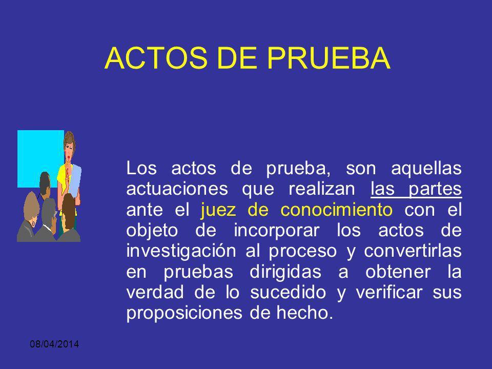 ACTOS DE PRUEBA