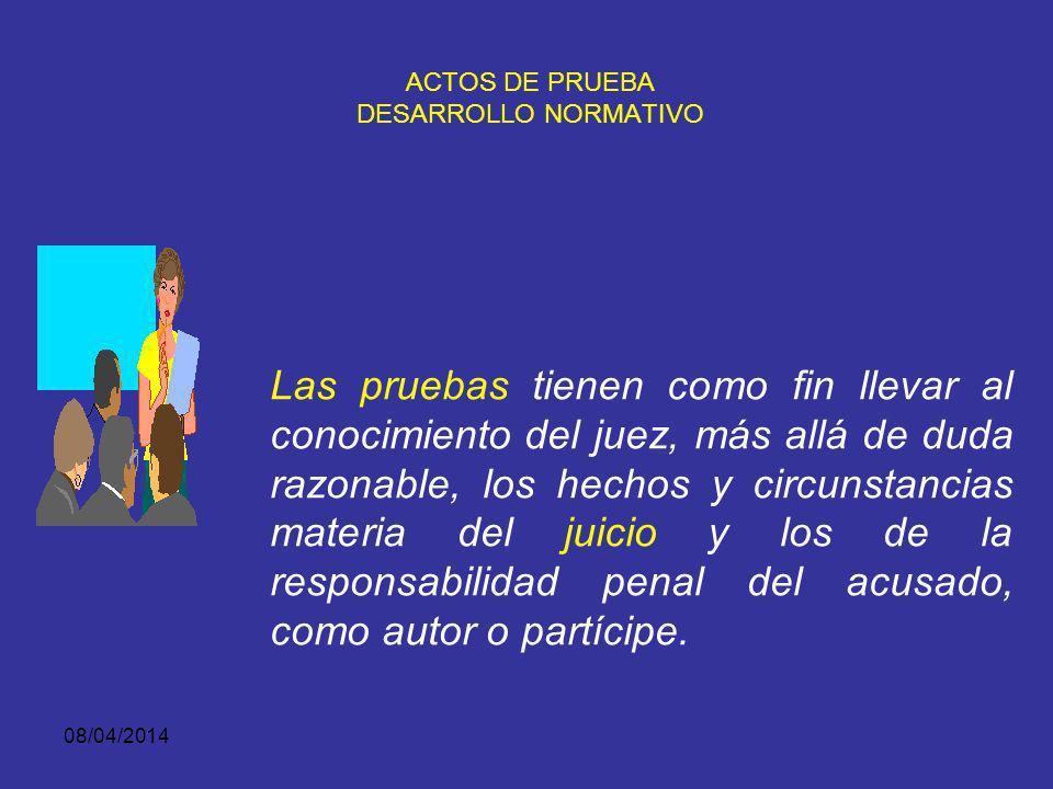 ACTOS DE PRUEBA DESARROLLO NORMATIVO