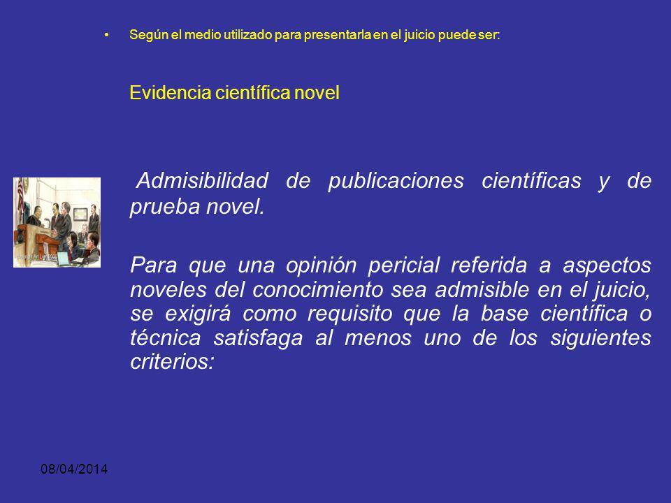 Evidencia científica novel