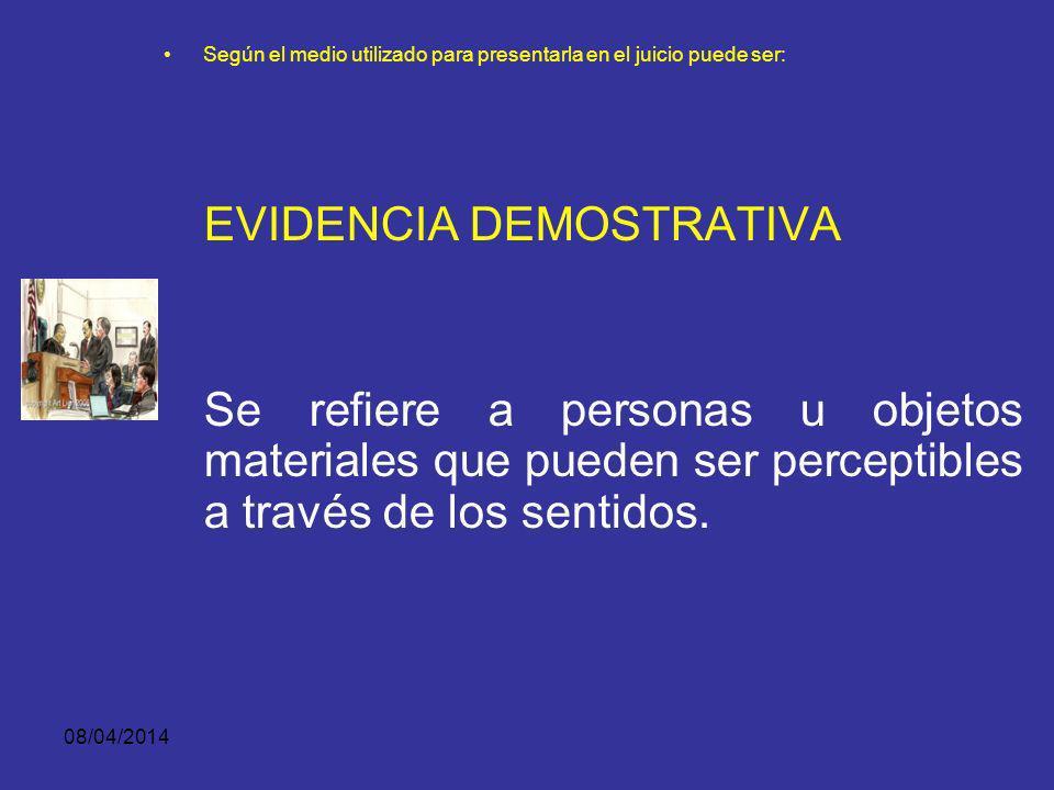 EVIDENCIA DEMOSTRATIVA