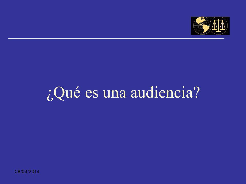 ¿Qué es una audiencia 29/03/2017
