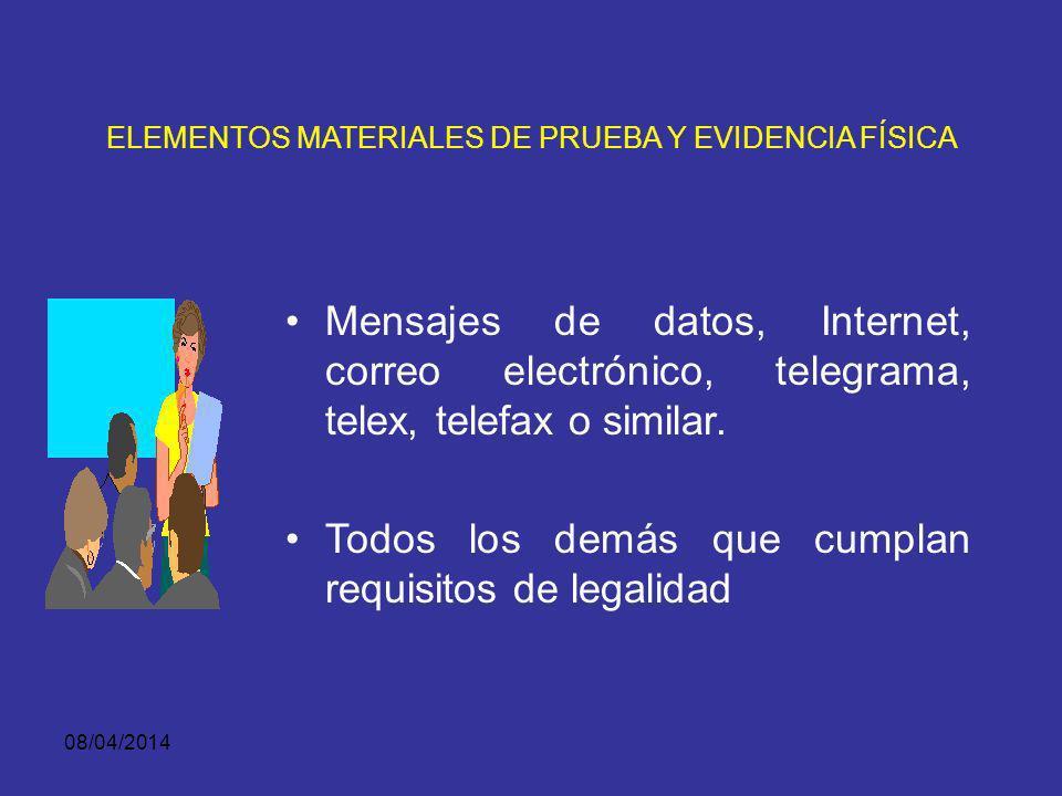 ELEMENTOS MATERIALES DE PRUEBA Y EVIDENCIA FÍSICA