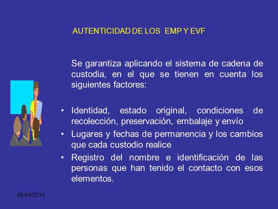 AUTENTICIDAD DE LOS EMP Y EVF