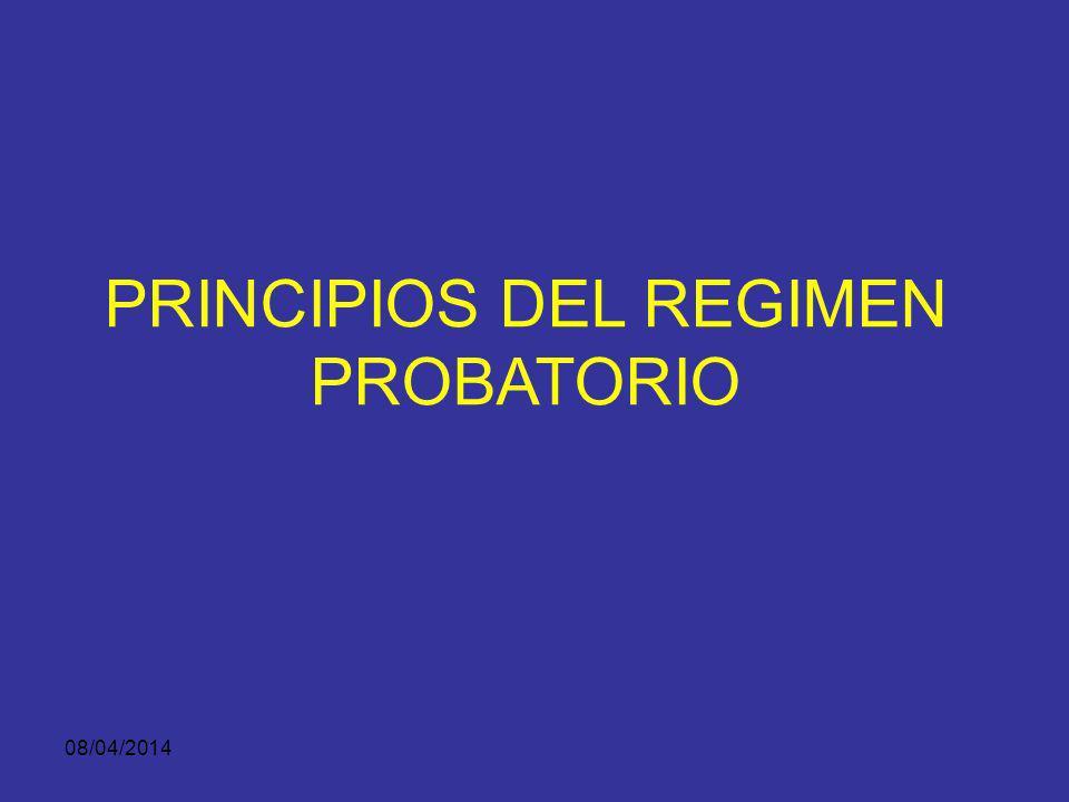 PRINCIPIOS DEL REGIMEN PROBATORIO