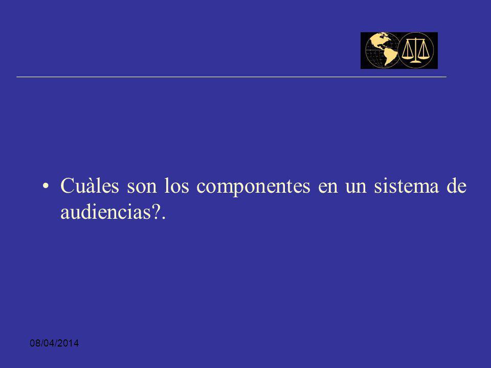 Cuàles son los componentes en un sistema de audiencias .