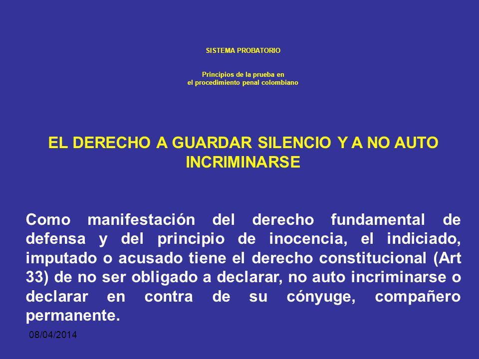 EL DERECHO A GUARDAR SILENCIO Y A NO AUTO INCRIMINARSE