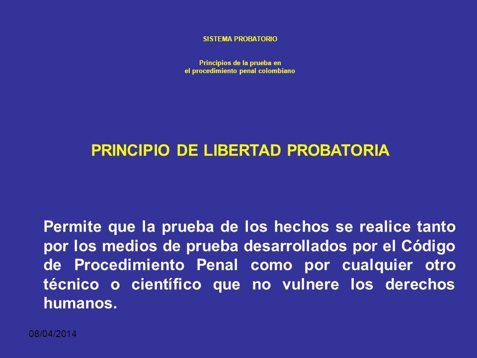 PRINCIPIO DE LIBERTAD PROBATORIA