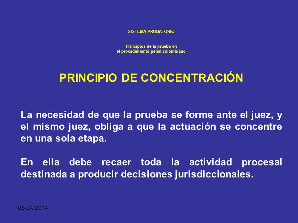 PRINCIPIO DE CONCENTRACIÓN