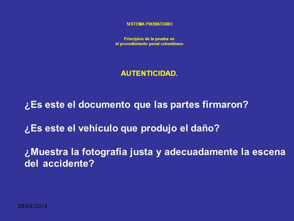 Principios de la prueba en el procedimiento penal colombiano