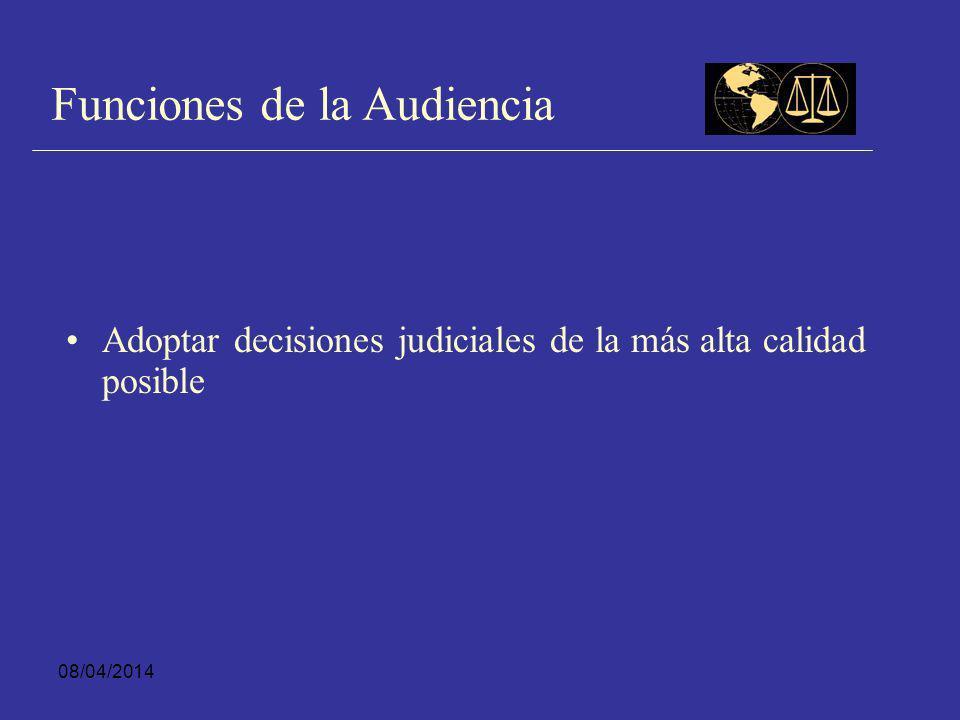 Funciones de la Audiencia