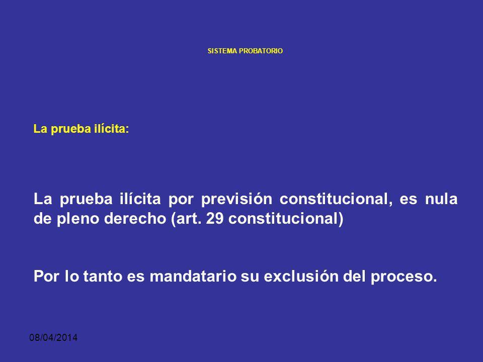 Por lo tanto es mandatario su exclusión del proceso.