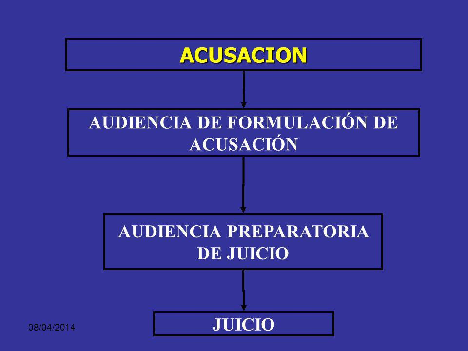 AUDIENCIA DE FORMULACIÓN DE ACUSACIÓN AUDIENCIA PREPARATORIA DE JUICIO