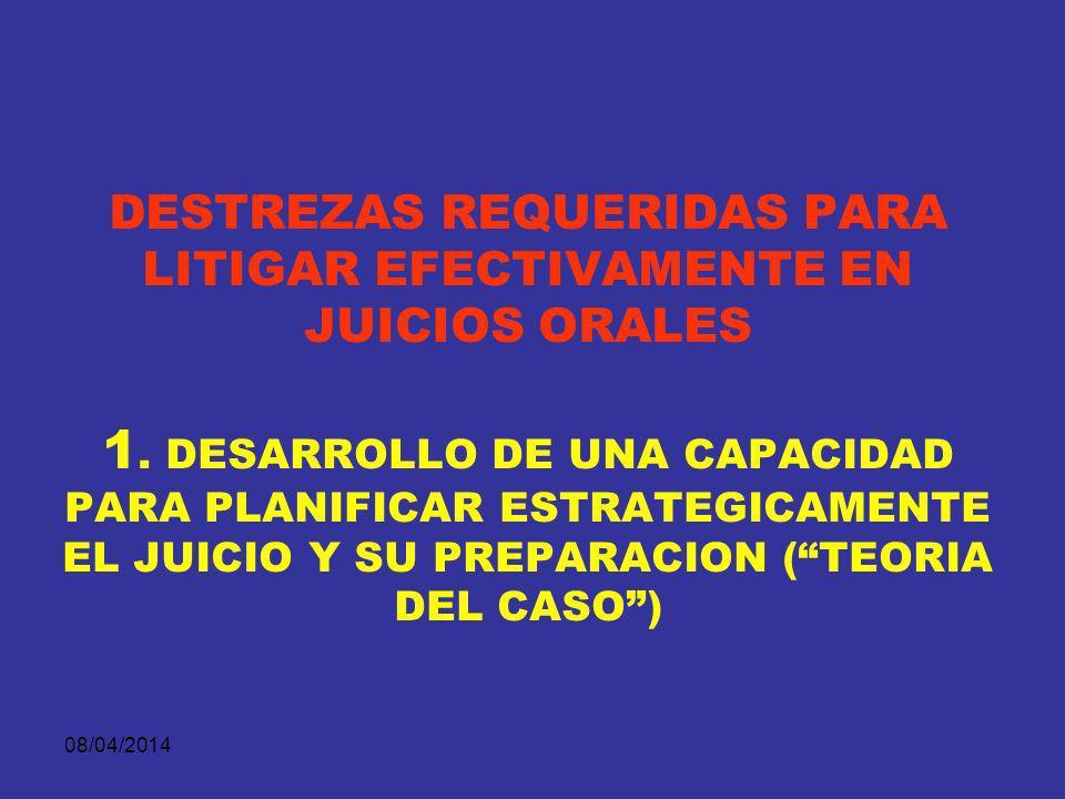 DESTREZAS REQUERIDAS PARA LITIGAR EFECTIVAMENTE EN JUICIOS ORALES 1