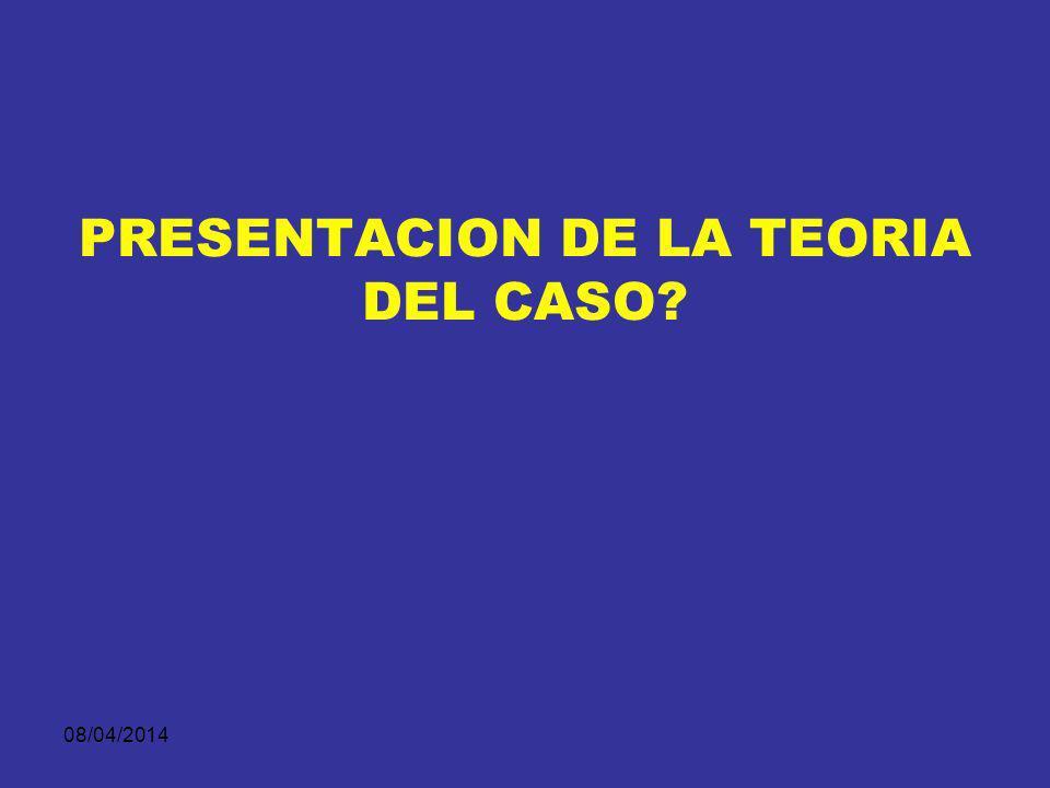 PRESENTACION DE LA TEORIA DEL CASO