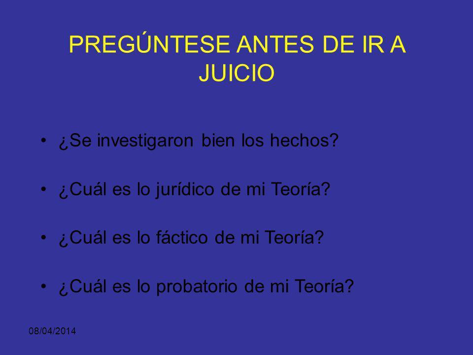 PREGÚNTESE ANTES DE IR A JUICIO