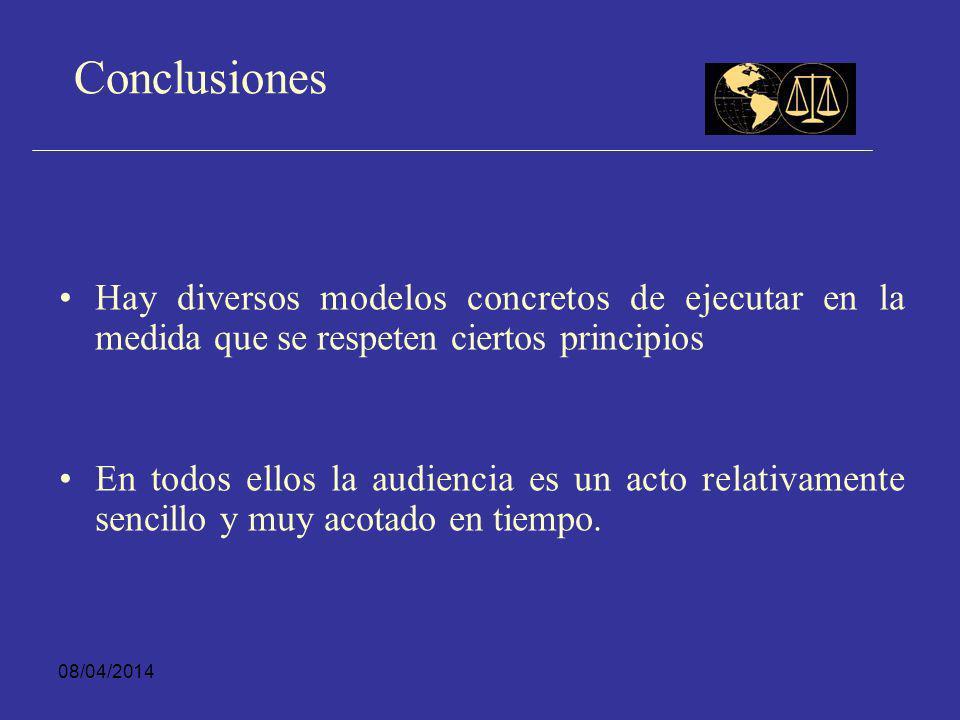 Conclusiones Hay diversos modelos concretos de ejecutar en la medida que se respeten ciertos principios.