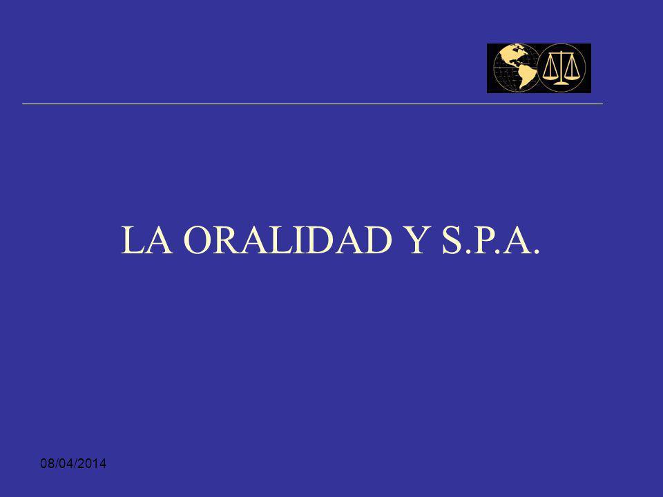 LA ORALIDAD Y S.P.A. 29/03/2017
