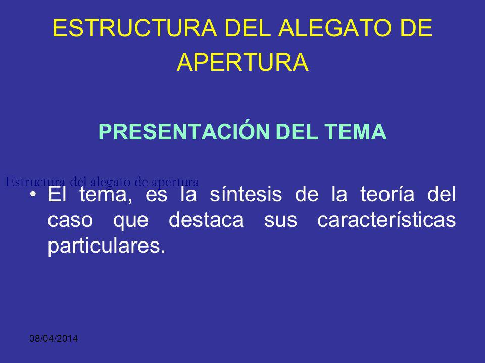 ESTRUCTURA DEL ALEGATO DE APERTURA