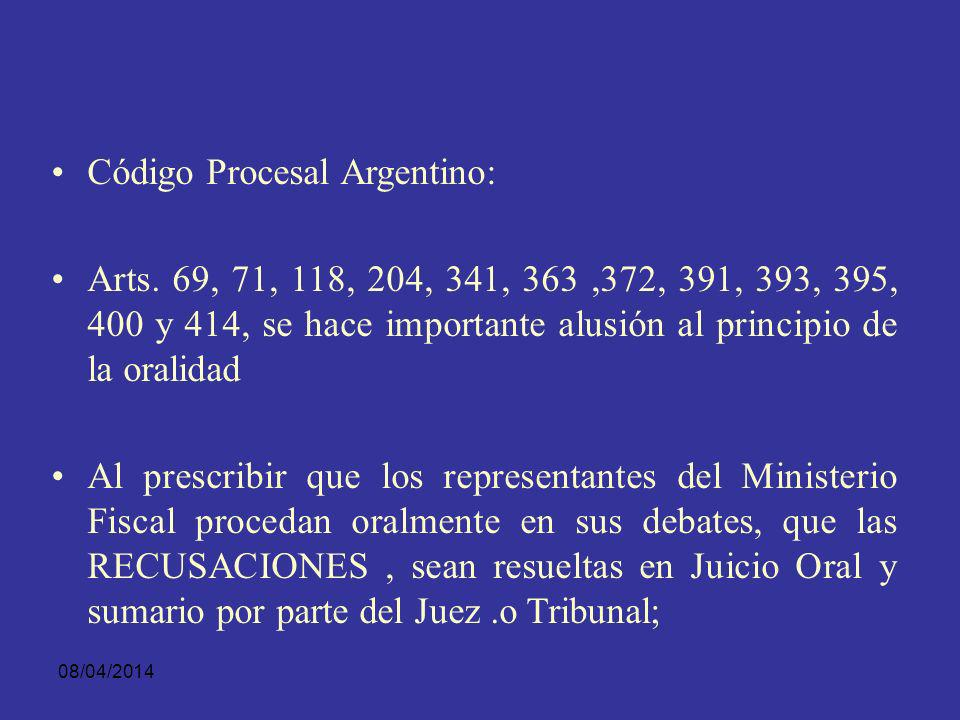 Código Procesal Argentino: