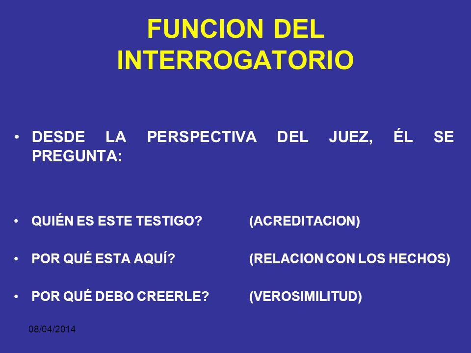 FUNCION DEL INTERROGATORIO